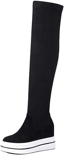 Bottes De Sport pour Femmes Bottes Hauteur Genou Plateforme à à à Semelles épaisses Bottes étudiantes à La Mode étudiantes Bottes Femmes Chaussures 0c0