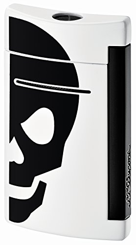 S.T. Dupont S.T. Dupont Minijet Feuerzeug,Motiv: Schwarzer Totenkopf Black Skull Black Skull