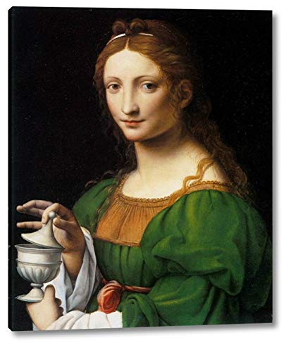 "The Magdalene by Bernardino Luini - 13"" x 16"" Gallery Wrap Canvas Art Print - Ready to Hang"