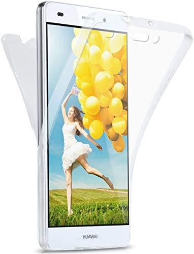 MoEx Cover Fronte-Retro in Silicone Compatibile con Huawei P8 Lite 2015   Trasparente, Trasparente