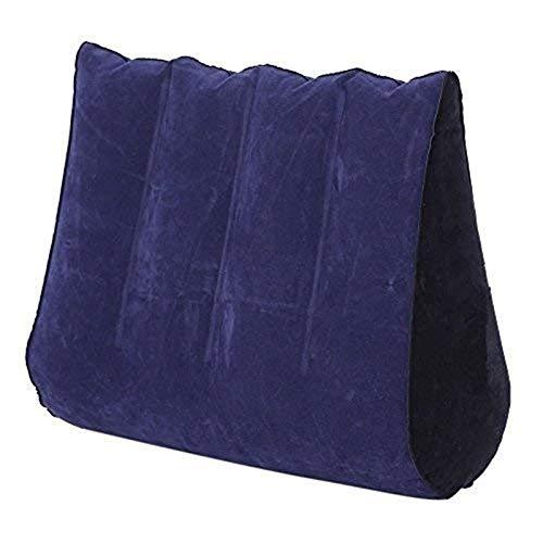 Almohada inflable del sofá, PVC que se reúne suave y cómodo, el ángulo de apoyo del cuerpo más cómodo, par juego posición cojín auxiliar Zwwse
