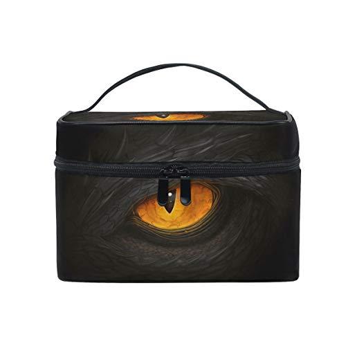 HaJie - Bolsa de maquillaje de gran capacidad, organizador de ojos de dragón, diseño de animal de viaje, portátil, neceser, bolsa de almacenamiento, bolsa de lavado para mujeres y niñas
