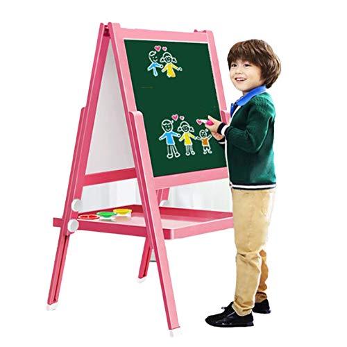 OSHA HJWMM Pizarra Infantil Caballete para niños, Doble Ajustable Plegable Pizarra y Pizarra Magnética, Tablero de Dibujo para Dibujo en Niños Pequeños (Color : B, Size : 105x46cm)