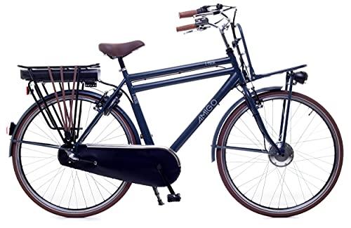 Amigo E-Pulse - Elektrofahrrad für Herren - E-Bike 28 Zoll - Herrenfahrrad mit Shimano 3-Gang - Nabenschaltung - 250W und 13Ah, 36V Li-ion-Akku - Blau