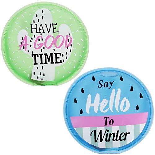 Promobo - Lot 2 Mini Bouillotte Chaufferette Poche Inscription Winter Have A Good Time