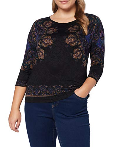 Desigual TS_Cannes Camiseta, Negro, L para Mujer