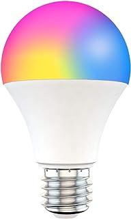 Jumowa Slimme gloeilamp, 15W wifi-led Slimme gloeilamp E27 B22 dimbaar RGB + CCT RGB-kleurveranderende lampen, stembesturi...