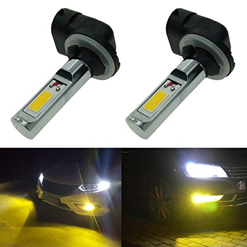 Calais Extremely Bright 881 LED Fog lights 2000 lumens High Power COB Chips LED 881 886 889 894 3000K Yellow LED Fog Lights Lamp Bulbs Replacement