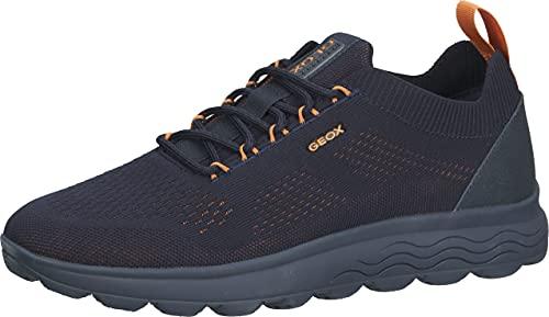 Geox U SPHERICA A, Zapatillas Hombre, Azul (Navy/Orange), 44 EU