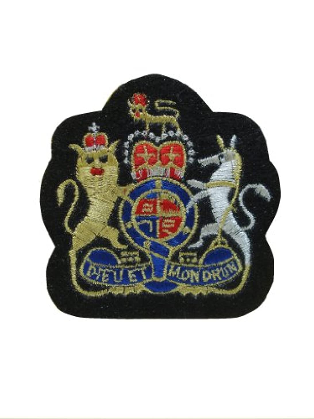 CREST EMBLEM Iron On Patch Embroidered Motif Biker Applique Heraldic Insignia Badge Decal 2.8 x 2.7 inches (7 x 6.8 cm)