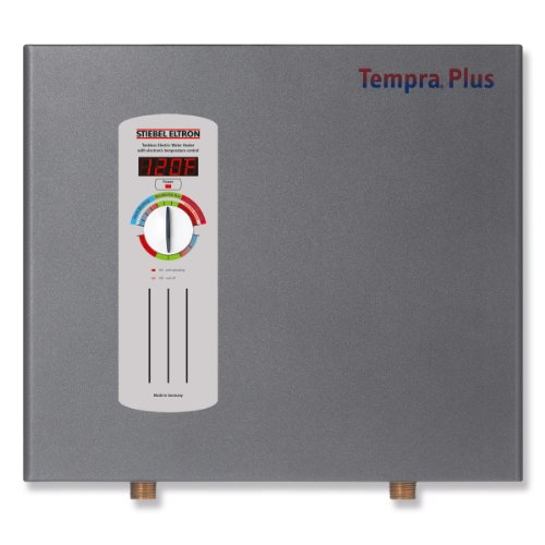 Stiebel Eltron 224198 240V, 1 Phase, 50/60 Hz, 20 kW Tempra 20 Plus Whole House Tankless Electric Water Heater, Advanced Flow Control