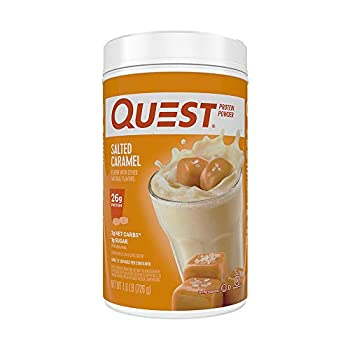 Quest Nutrition Salted Caramel Protein Powder High Protein Low Carb Gluten Free Soy Free 25.6 Ounce  Pack of 1