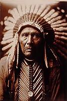 キャンバス塗装 ぶら下げ画 黒と白のネイティブインディアンの肖像オイルがリビングルームのホームインテリアなしフレームのためのポスタープリントウォールアート画像絵画 (Size (Inch) : 40x60cm)