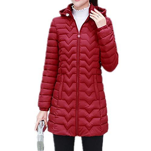 Chaqueta acolchada de algodón con capucha para mujer