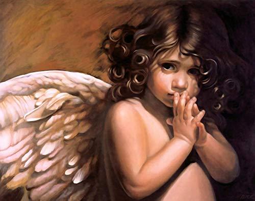 VVNASD Puzzle De 1000 Piezas para Infantiles,Angelito Decoración del Hogar Arte Regalo De Madera Juguetes Divertidos Juegos Gran Regalo Educativo para Niños