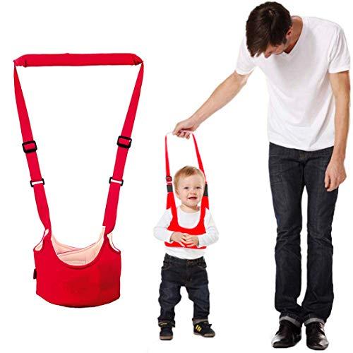 RabbitStorm Bebé Niño Pequeño con Cesta (rojo), Arnés Andadera de Bebé para Caminar - Canguro Accesorio para Niño y Niña, Ayudante de Alas de Seguridad para Caminar del Bebé Ajustable