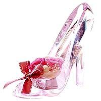 プリザーブドフラワー IPFA ガラスの靴 シンデレラ [プレゼント] ギフト/花/結婚記念日/誕生日/バラ/女性/フラワーギフト (ピンク×ピンクヒール)