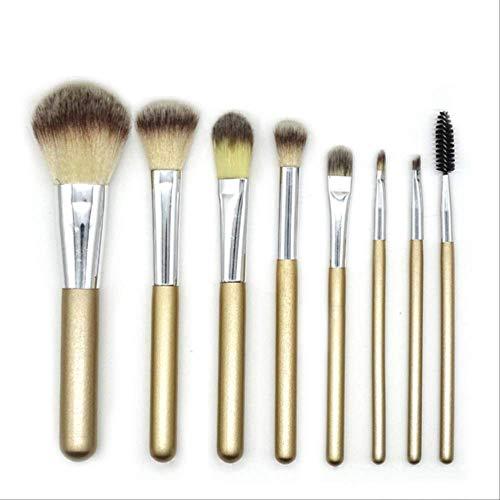 Maquillage Briller Brosses/Brosses Fondation Eye-Liner À Lèvres Ombre À Paupières Faire Des Pinceaux Kits Avec Sac Cosmétique 8 Pièces 8Pcs Sans Cas