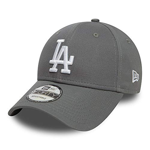 New Era 9FORTY MLB League Essential Los Angeles Dodgers Cap grau/weiß, OneSize