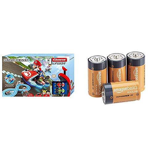 Carrera First Nintendo Mario Kart™ 2,4 Meter 20063026 Autorennbahn Set ab 3 Jahren & AmazonBasics - Everyday...