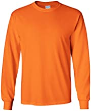 Gildan 2400 - Classic Fit Adult Long Sleeve T-shirt Ultra Cotton - First Quality - Safety Orange - 3X-Large