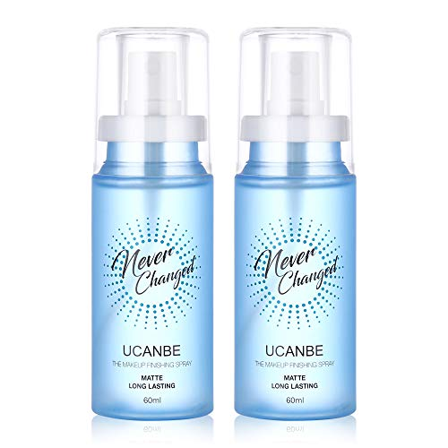 UCANBEMatteSettingSprayProfessionalMakeup Face Mist Oil Control Long Lasting High Hydrating Stay All Day Cosmetic Finishing Spray, 2 Packs