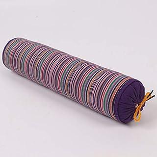 YYBF Almohada de Trigo sarraceno Gruesa de Rayas Almohada de Trigo sarraceno Caramelo Caramelo Caramelo Almohada cilíndrica se Puede Desmontar 1 jin Púrpura Oscuro
