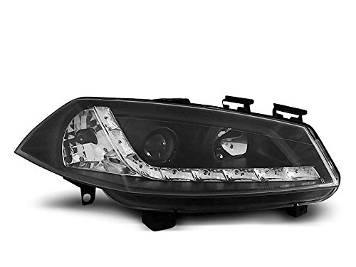 1 paar koplampen Megane 2 02-05 Daylight LED zwart (E16)