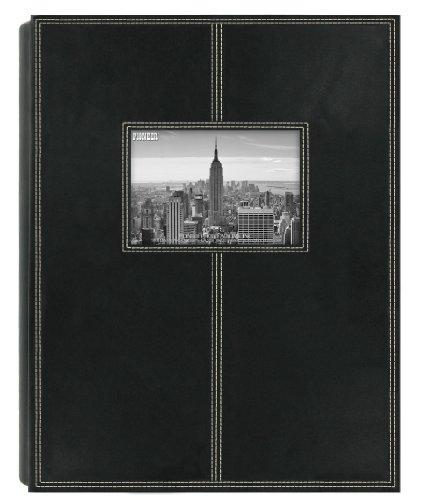 Pioneer Photo Albums 5PS-300 300-Pocket Sewn Leatherette Frame Cover Photo Album, Black