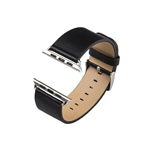 Bracelet pour Apple Watch Cuir 42mm, Rosa Schleife® iWatch Montre Watch Sport Bande Replacement avec Metal Boucle Fermoir PU Leather Straps Wristband pour Tracker d'activité Apple Watch Sport/Edition