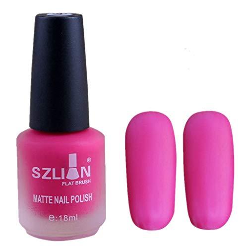 iHENGH Vernis à Ongles, 18ml Matte Dull Nail Polish Fast Dry Long Lasting Nail Art Matte Nail Polish Gel