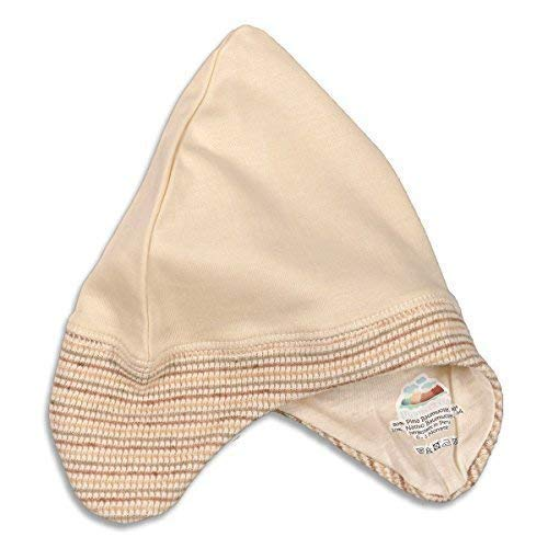 Mama Ocllo - Bonnet de Bébé, Oreillettes, Bio Pima et Native Coton, Vegan, Naissance, Baptême, Débuts Hat - 4-7 mois