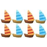 Toyvian Mini barca a vela, decorazione per bonsai, decorazione fai da te, 10 pezzi, casuale