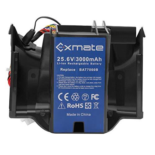 Exmate 25.6V 3.0Ah batería para cortacésped Robomow BAT7000B, batería de ión Litio