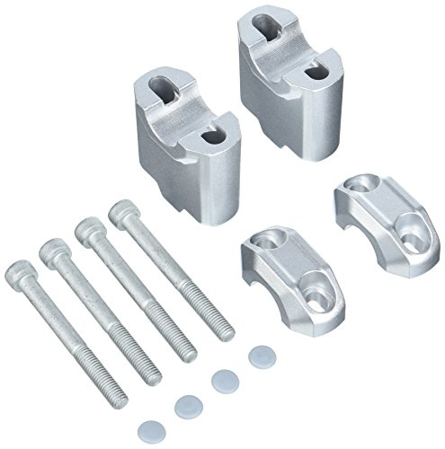 Lenkererhöhung für Ø 22 mm Lenker, Höhe 50 mm, silbern.