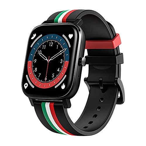 ZOZIZZ Sports Smart Watch, Presión Arterial Detector de Ritmo cardíaco Toque Fitness Fitness Fitness Push Mensaje IP68 Rastreador Impermeable