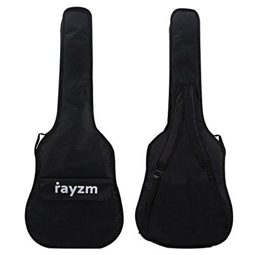 "Rayzm funda para 40\""/41\""(tamaño completo)guitarra acústica, bolsa acolchada para guitarra acústica/clasica, dos correas acolchadas, asa de transporte,un amplio compartimento frontal"