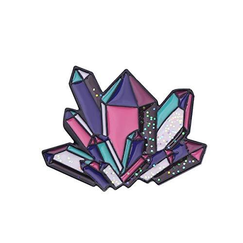 LYXPUAH Pin de Insignia Tarot Marca Crystal Pile Forma Broche Mochila Placa Insignia (Color : B)