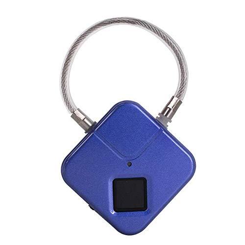 Candado de Huellas Dactilares, Smart Biométrico Thumb -Print Anti Robo Lock, Sin Claves, IP66 Impermeable, Uno Touch Desbloqueo, Cargo por USB, para Mochila, Caja de Herramientas, Equipaje WKY