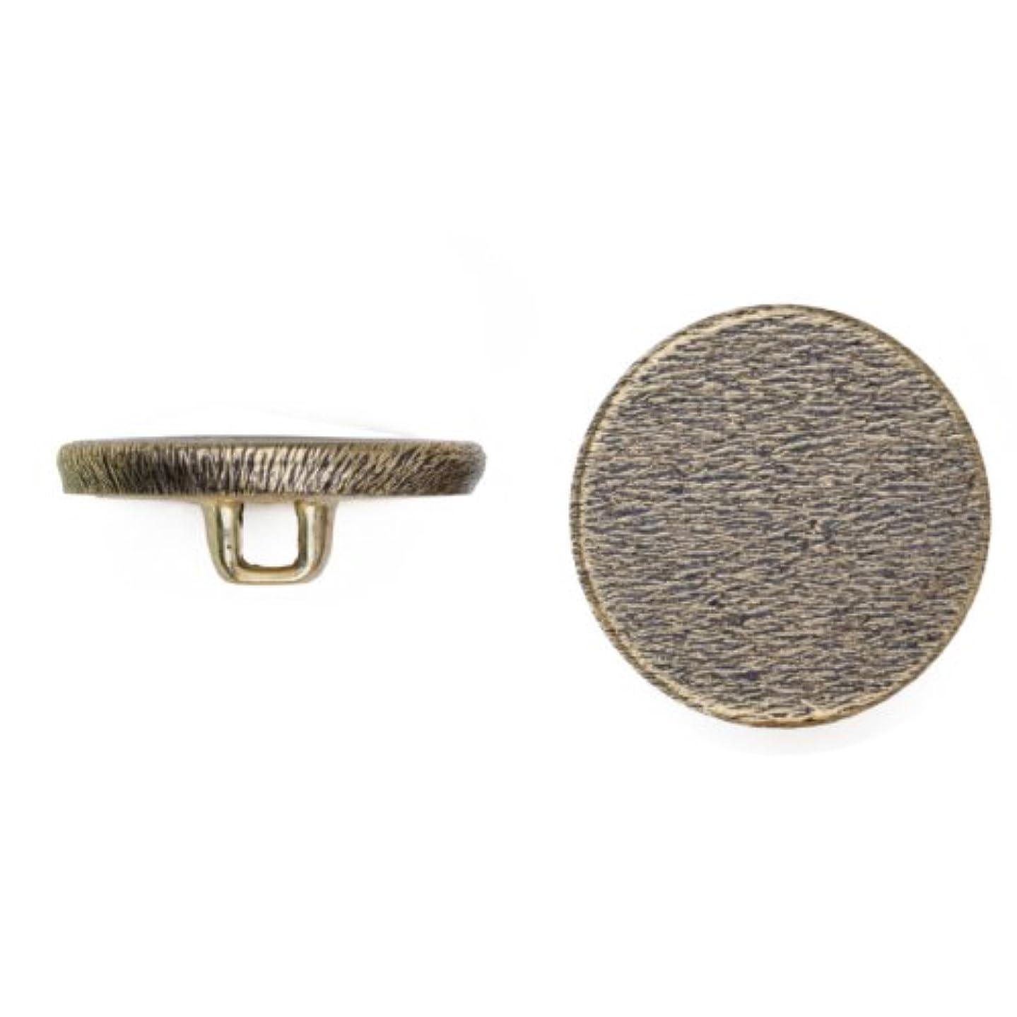 C&C Metal Products 5051 Flat Florentine Metal Button, Size 33 Ligne, Antique Gold, 36-Pack