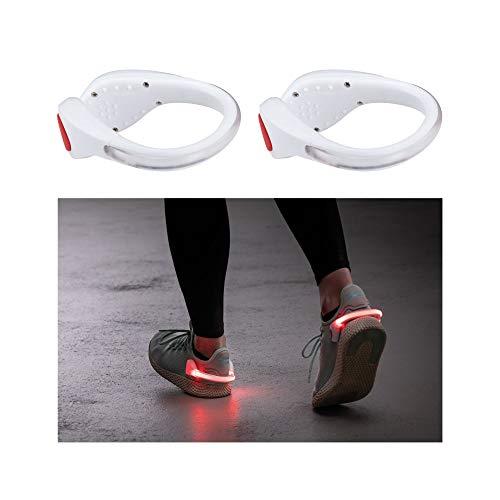 Paulmann 70973 LED Function LED Schuh Clips incl. 2x0,2 Watt inkl. Batterie (wechselbar) Schuhreflektor Weiß Schuhclip Kunststoff Lauflicht
