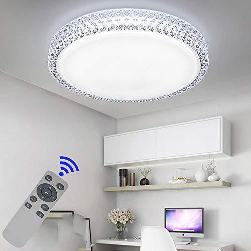 BFYLIN 48W Runde LED Deckenlampe Starlight Effekt Kristall Sternenlicht Deckenleuchte Lampe Energiesparlampe Deckenbeleuchtung Schönes Badlampe (Runde-48W Dimmbar)