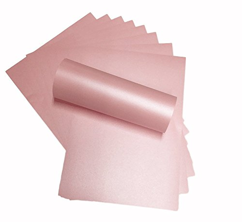 100 Blatt A4 Blütenblätter rosa Papier Perlglanz-Papier doppelseitig 120 g/m² geeignet für Tintenstrahl- und Laserdrucker