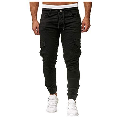 MINIKIMI Herren Jogging Hosen Jogginghose Cargo Chino Jeans Stretch Jogger Sporthose Slim-Fit Sweathose Cargohose Fitness Trainingshose M-3Xl