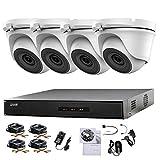 HIKVISION 4CH CCTV Kit DVR 1080P & 4X 2.0MP Full HD 1080P Cámara CCTV Cámara IR 20M Visión nocturna Visión remota Fácil Sistema de Cámaras de Seguridad P2P (sin HDD preinstalado)