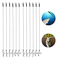Sturdy Material The fishing carp rigs is made of carbon steel, which is strong and durable, not easy to rust, and can be used for a long time. Curved Round Hook Design Adopt a special arc-shaped round hook design, curved inwards, strong and sharp, an...