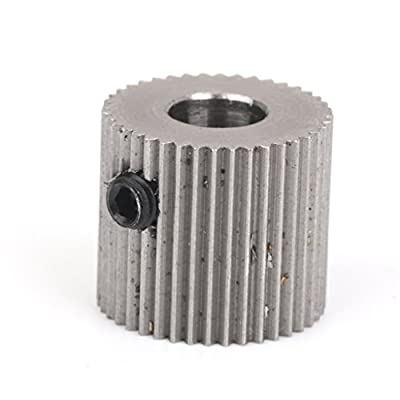 Replacement Stainless Steel Extruder Drive Gear 5mm Shaft for 1.75mm Filament 3D Printer