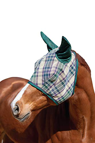 Kensington Signature Fly Mask with Soft Mesh Ears - Protects Horses Face, Nose and Ears from Biting Insects and UV Rays While Allowing Full Visibility (M, Deluxe Hunter)