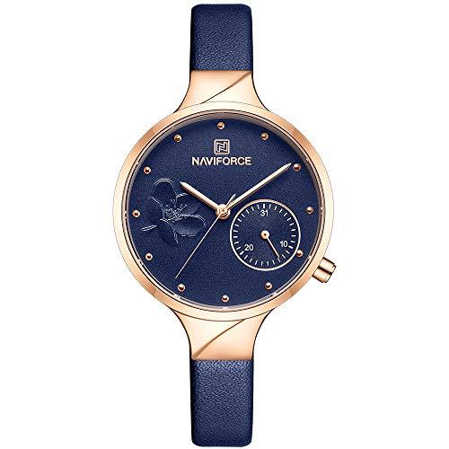 Women's Analog Quartz Watch with Leather Bracelet NF5001