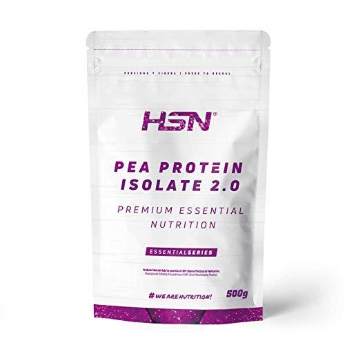 Proteína de Guisante Aislada de HSN   Vegan Protein   Pea Protein Isolate   Edulcorada con Estevia   Vegano, Sin Lactosa, Sin Gluten, Sin Azúcar, Sin Soja, En Polvo, Sabor Neutro, 500 gr